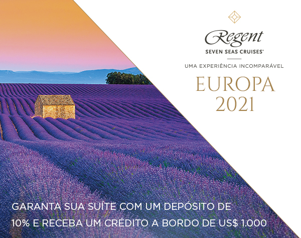 Regent Seven Seas Cruise An Unrivalled Experience EUROPE 2021 Secure your suite with 10% deposit and receive US$1,000 Shipboard Credit